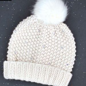 New Joyfolie Hat with a beautiful stones, faux fur